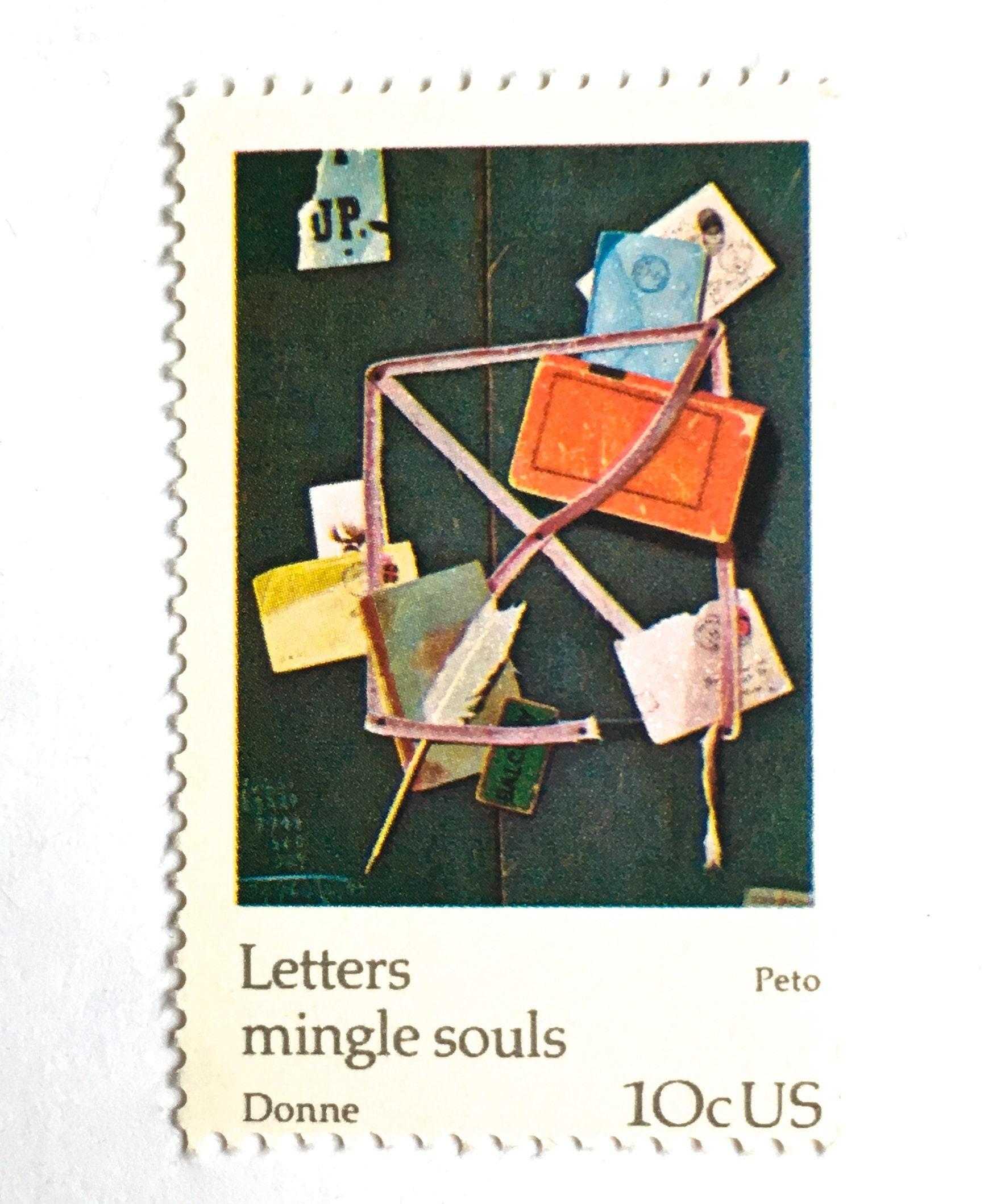 10 letters envelopes postage stamps letters mingle souls etsy