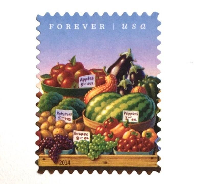 10 Farmers Market Fruit Forever Stamps // Garden Fresh Fruit image 0