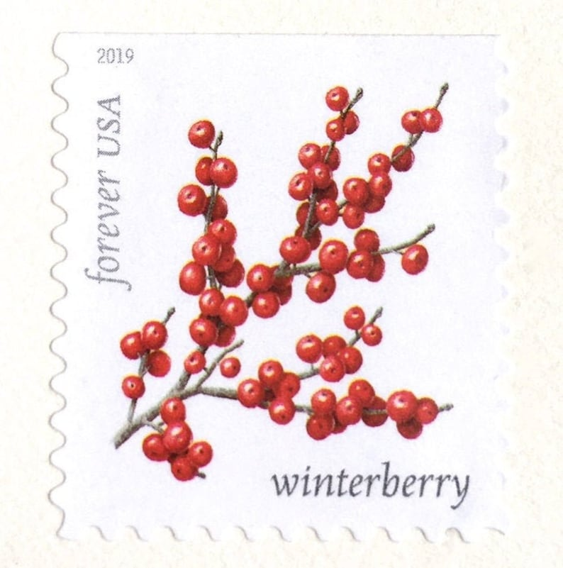 10 Winterberry Forever Stamps / Red Winter Berries // Forever image 0