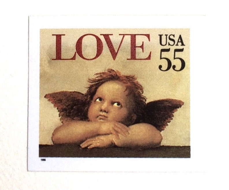 10 Classical Cherub Stamps // 55 Cent Vintage Classical image 0