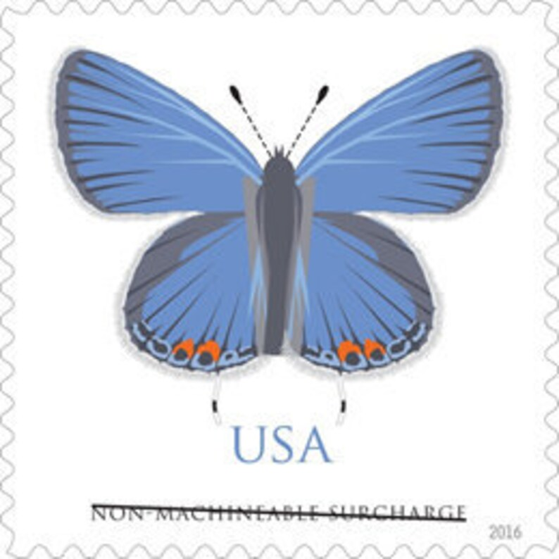 10 Blue Butterfly Postage Stamps // 70 Cent Butterfly For image 0