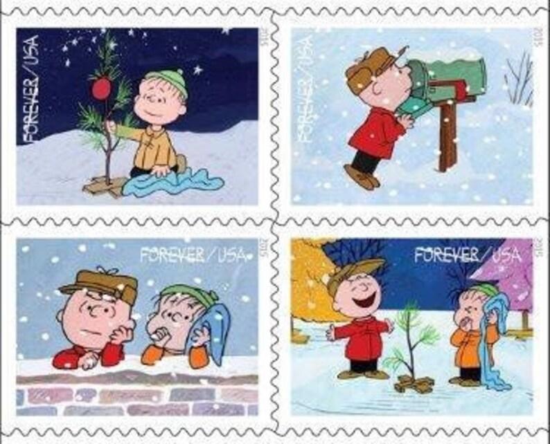 20 Unused Charlie Brown Christmas Stamps RARE Peanuts