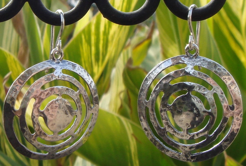 Sterling Hammered Dome Earrings