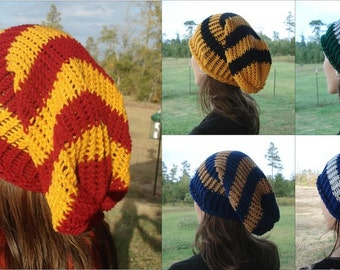 Hogwarts House Colors Influenced Slouchy Beanies