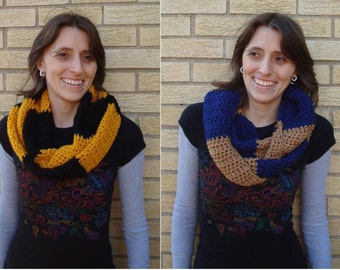 Hogwarts House Colors Infinity Scarves