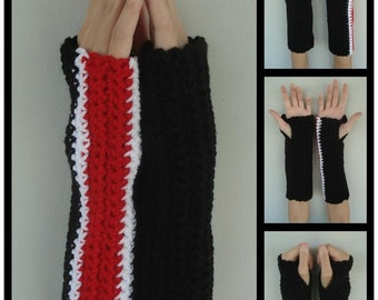 N7 Stripe Inspired Armwarmers (Custom Colors Available)
