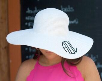 80c8a812d0205 Monogram beach hat