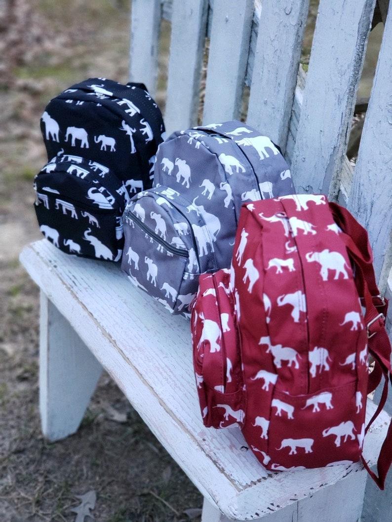 MONOGRAM /& SHIPPING Elephant Backpack Baby Backpack Baby Shower Gift Mini Backpack PreSchool Backpack Monogram Toddler Backpack