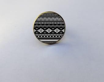 "ring tribal pattern ""Alex"""