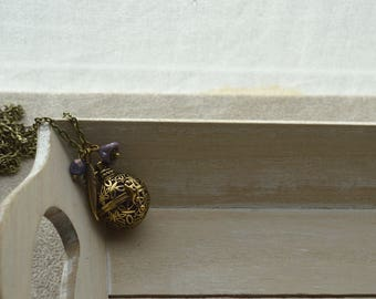 Pregnancy Bola, your purple, Czech glass pearls