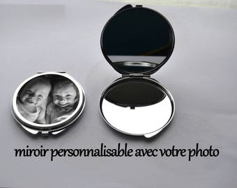 customizable double mirror with a photo of your choice