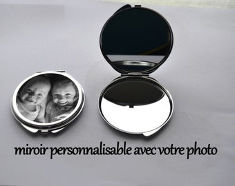 customizable double mirror with the photo of your choice