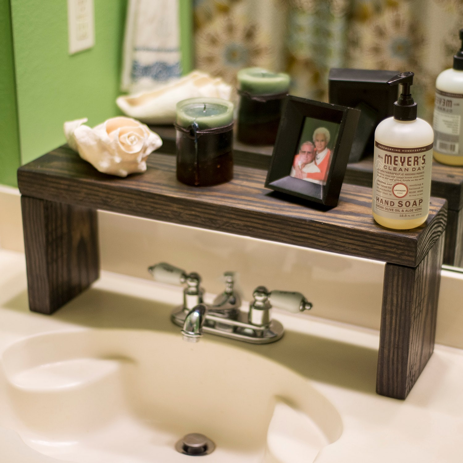Rustic Shelf Over The Sink Shelf Bathroom Shelf Farmhouse Etsy