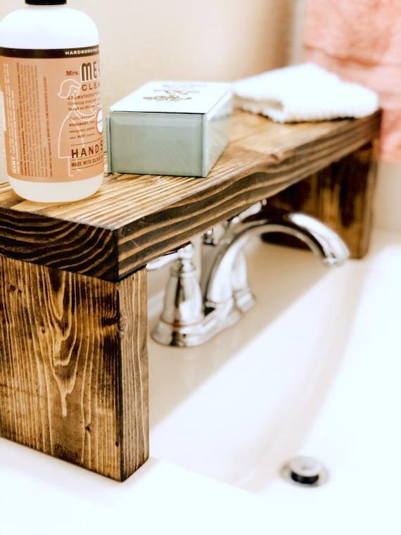 Rustic Wood Shelf Bathroom Sink Shelf Moden Farmhouse Etsy