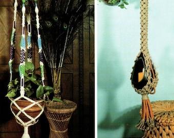 Macrame Crochet Pattern,  Macrame Love, Hippie BoHo Owl, Jute Knot Tying, Plant Hanger, Vintage 1977 EBook, PDF Instant, Digital Download