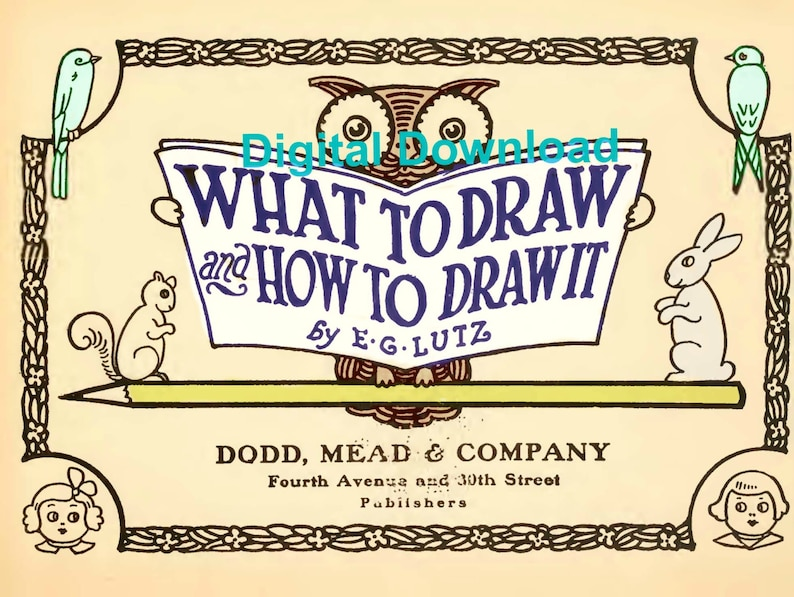 What To Draw and How To Draw It, Edwin G Lutz, Printable Book, Drawing  Lessons, eBook, Pdf Instant, Digital Download