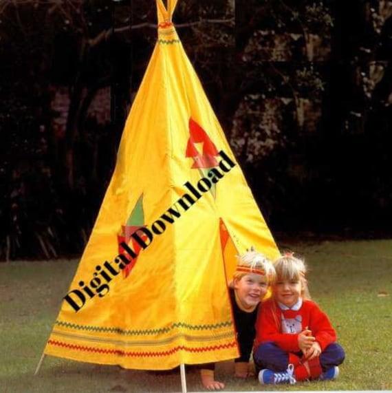 TeePee Pattern Kids Teepee Tipi Wigwam Tent Playhouse   Etsy