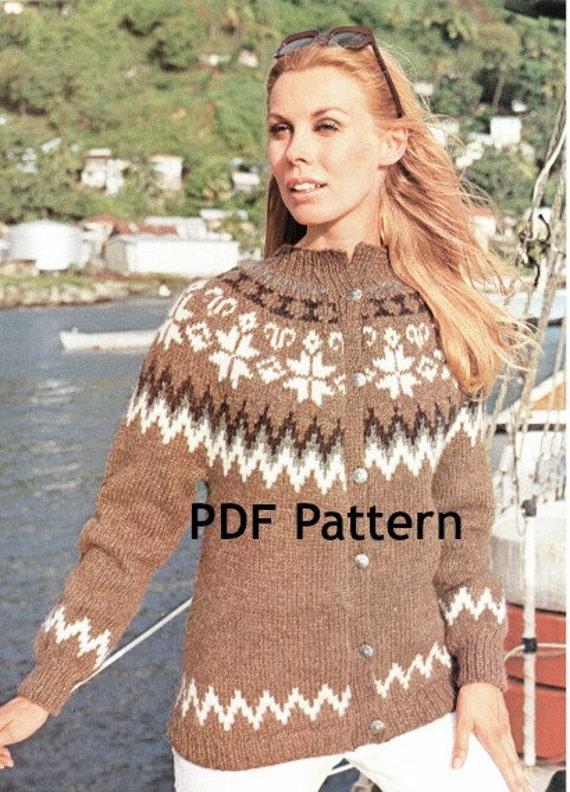 1930s Crochet Pattern Vintage Womens Bed Jacket Cardigan Loose