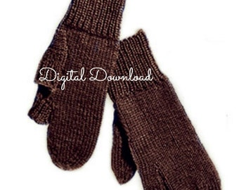 Men's Marksman Gloves,  WWII Military Knitting Patterns, War Era Patterns, Trigger Gloves, Vintage 1940's Patterns, PDF, Digital Download