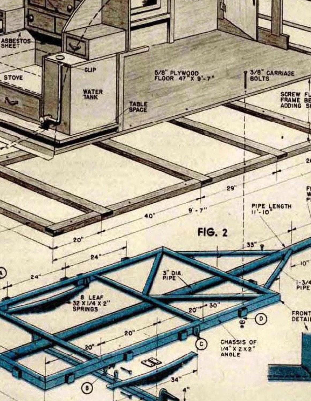 Tear drop camper trailer blueprint vintage 1947 plans how to build this is a digital file malvernweather Images