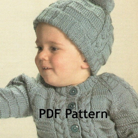 Cabled Toddler Knit Sweater With Hat Pattern Cable Knit Etsy