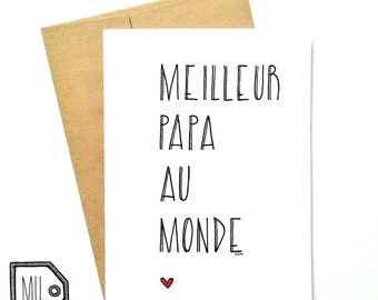 French card - fathers day - fathers day card - card for dad - dad card - fathers card - dad - father - dad day - meilleur papa au monde
