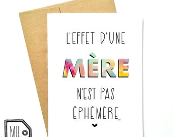 French card - mothers day - mothers day card - card for mom - mom card - mom - mother - thanks mom - fête des mères - éphémère