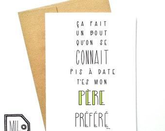 French card - fathers day - fathers day card - card for dad - dad card - fathers card - dad - father - dad day - père préféré