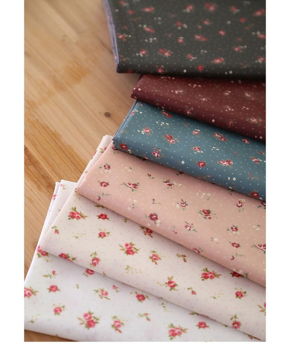 Laminated Cotton Fabrics Waterproof Fabric By The Yard Etsy