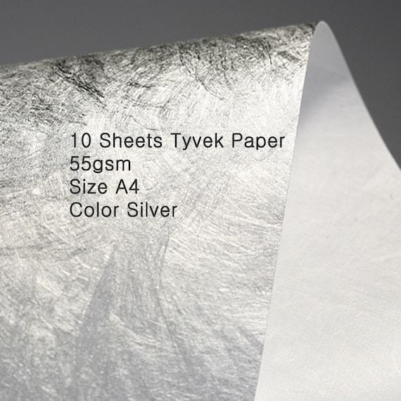 Tyvek sheet 55gsm D type//1056D  A4 Pack of 10//100 sheets Tyvek Paper