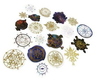 Mystic symbols PVC deco stickers