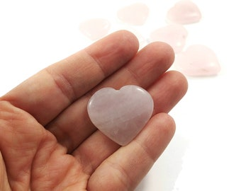 Rose quartz heart shape worry stone 25mm - Palm Stone
