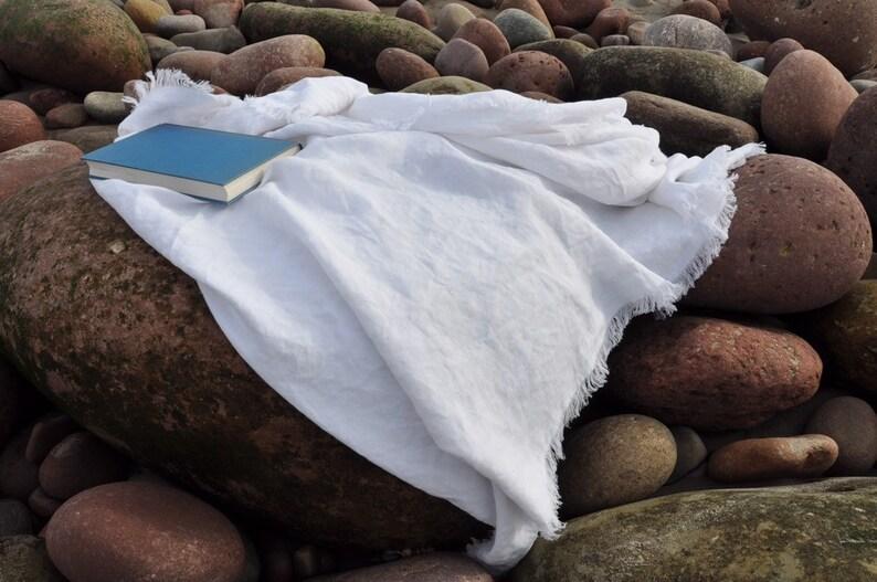 Linen Towel  Made from vintage linen  Bath towel  Beach image 0