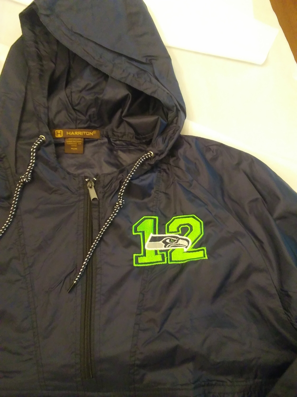 new arrival aa4c3 2be64 Seahawks rain coat