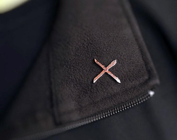 Featured listing image: Rowan Cross Enamel Pin European Protection Charm