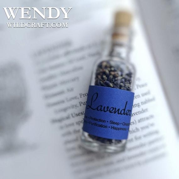 Lavender Flower Buds Jar Bottle