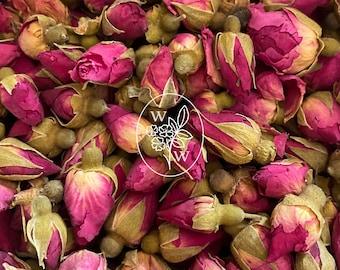 Red Rose Buds Organic Dried