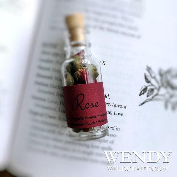Red Rose Buds Jar Bottle
