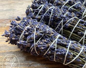 Lavender Smudge Stick Burn Bundle Herb Wand Smoke Cleansing Organic