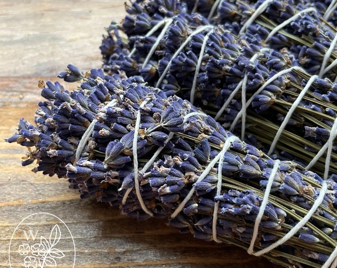 Featured listing image: Lavender Smudge Stick Burn Bundle Herb Wand Smoke Cleansing Organic