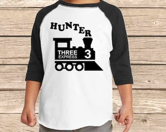 Train Birthday Shirt Third Boy 3rd 3 Choo