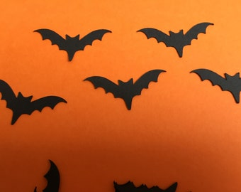 """Halloween Party Table Confetti Black Bats pack of 50 1"""" bats supplied"""