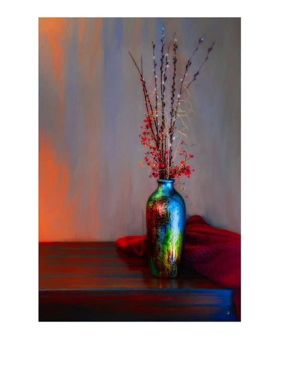 Fine Art Photography, Blue Vase, John Strong Arts, JStrong Photos, Wall Decor, Home Decor, Office Decor, Fine Art Print, Still Life