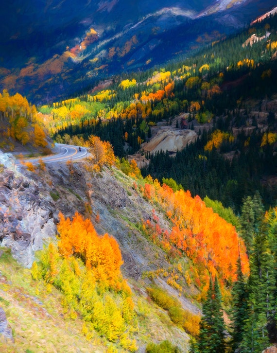 Solo In The San Juans, a fine art print from John Strong Arts and JStrong Photos.  This image was taken near Ouray, Colorado.