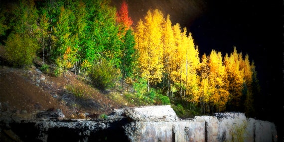 Once Upon A Mine, Fine Art Photography by John Strong Arts and JStrong Photos - somewhere in the beautiful San Juan Mountains in Colorado.