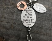 Perfect for First Father's Day or Christmas Personalized Fishing keychain or lure    ships in 24 to 48 hours