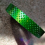 Green Peacock Rainbow Tape | Tape Roll, Hoop Tape, Deco Tape, Craft Tape, Special Tape, Rainbow Tape, Lure Tape, Gymnastic, Hula, Nail Art