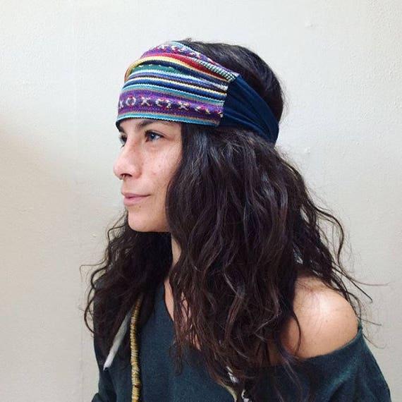 Yoga Headband Native Headband Handmade Headband Recycled  44aa6846ce2