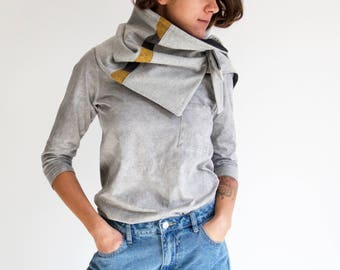 Gift under 50, Gray tube scarf, Tube scarf, Winter chunky scarf, Oversized scarf wrap, Wrap around, Eternity scarf