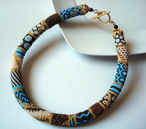 Perlen Halskette Perlen Häkeln Halskette Häkeln Perle Etsy